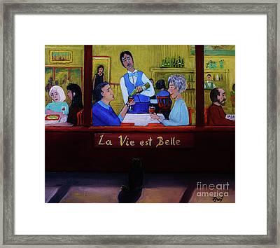 La Vie Est Belle Framed Print