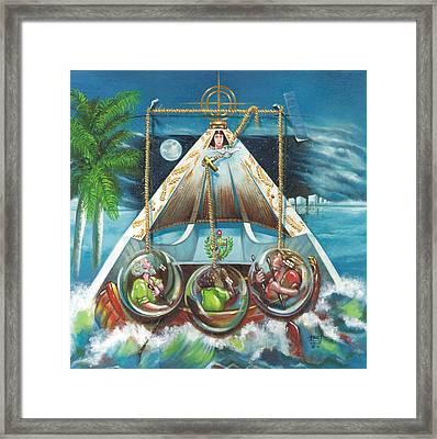 La Virgen De La Caridad Del Cobre En Miami Framed Print