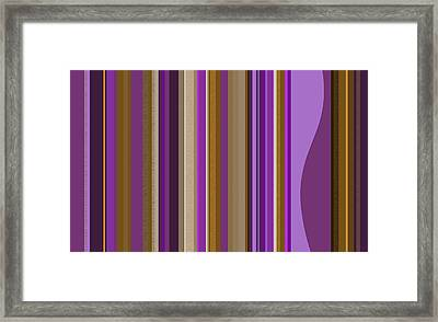 Large Purple Abstract - Two Framed Print