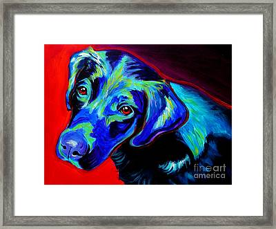 Lab - Canyon Framed Print by Alicia VanNoy Call