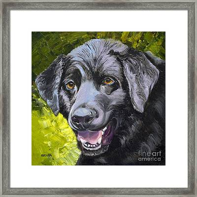 Lab Out Of The Pond Framed Print by Susan A Becker