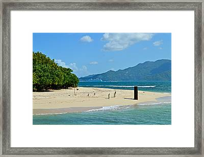 Labadie Or Labadee - Either Way Its  A Haitian Paradise Framed Print