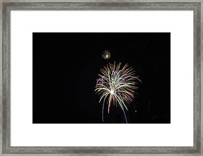 Labor Day Fireworks Framed Print by Angelo Marcialis