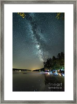Labor Day Milky Way In Vacationland Framed Print