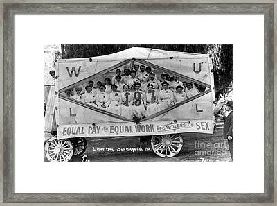 Labor Day Parade, 1910 Framed Print