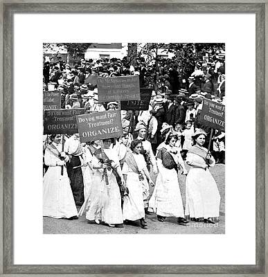 Labor Day Parade, Womens Suffrage, 1912 Framed Print