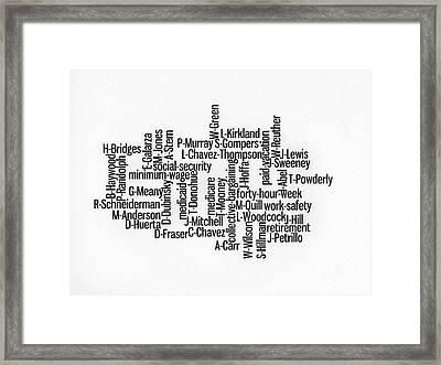 Labor Day - Thanks To Those Who Lead Framed Print