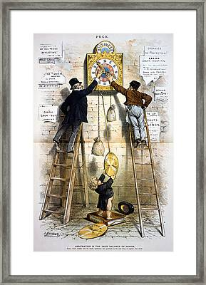 Labor Movement. Editorial Cartoon Framed Print by Everett
