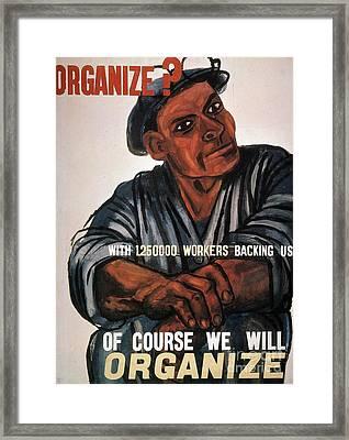 Labor: Poster, 1930s Framed Print