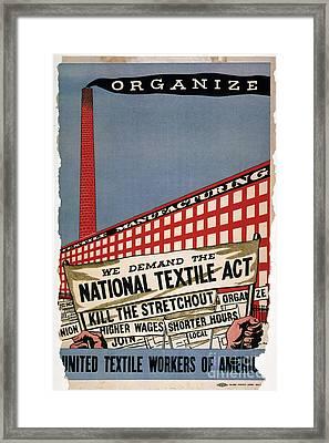 Labor Poster, 1935 Framed Print by Granger
