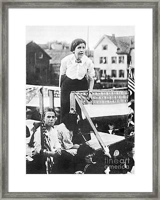 Labor Strike, 1912 Framed Print
