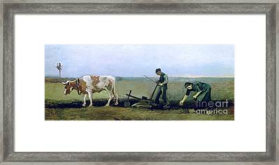 Labourer And Peasant  Framed Print