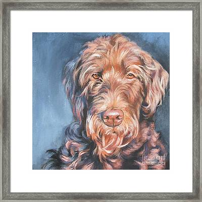 Labradoodle Framed Print by Lee Ann Shepard