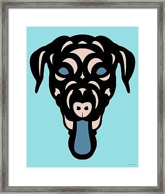 Labrador Dorianna - Dog Design - Island Paradise, Pale Dogwood,  Niagara Blue Framed Print