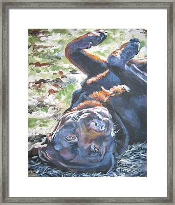 Labrador Retriever Chocolate Fun Framed Print by Lee Ann Shepard