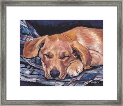 Labrador Retriever Sleeping Pup Framed Print by Lee Ann Shepard