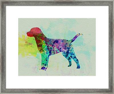 Labrador Retriever Watercolor Framed Print by Naxart Studio