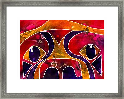 Labstract Framed Print by Roger Wedegis