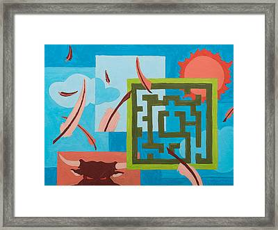 Labyrinth Day Framed Print