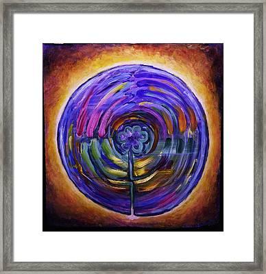 Mandala Labyrinth Framed Print by Sage Boyd