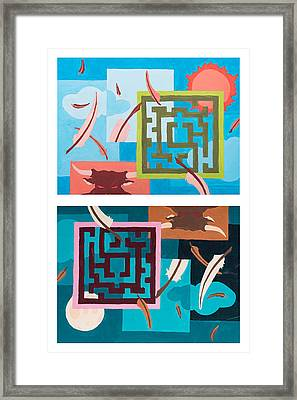 Labyrinth Night And Day Framed Print