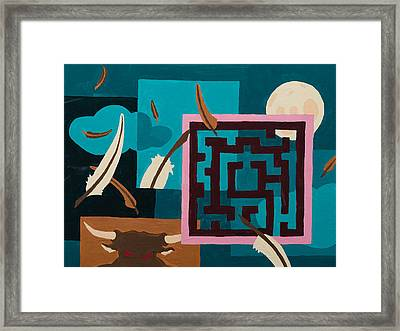 Labyrinth Night Framed Print