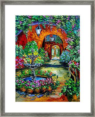 Labyrinth Of Arches Framed Print by Beata Sasik