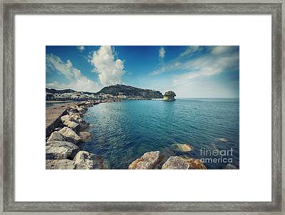 Framed Print featuring the photograph Lacco Ameno Harbour ,  Ischia Island by Ariadna De Raadt