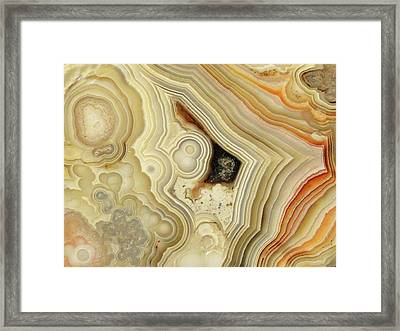 Lace Agate  Framed Print
