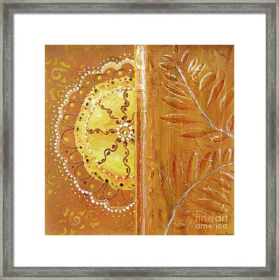 Lace And Leaves Framed Print by Desiree Paquette