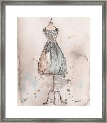 Lace Champagne Dress Framed Print by Lauren Maurer