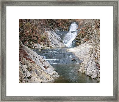 Lace Falls Framed Print