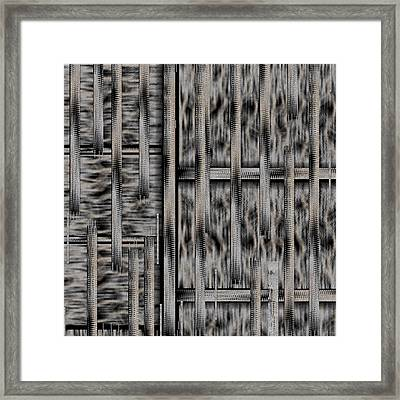 Lace Landscape Abstract Shimmering Lovely In The Dark Framed Print by Pepita Selles