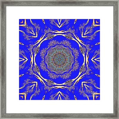 Lace Lattice Mandala Framed Print