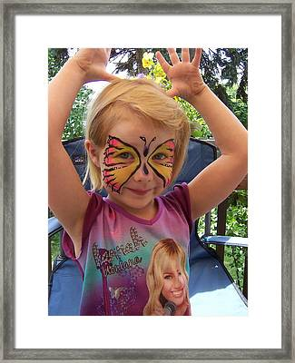 Lacey The Butterfly Framed Print