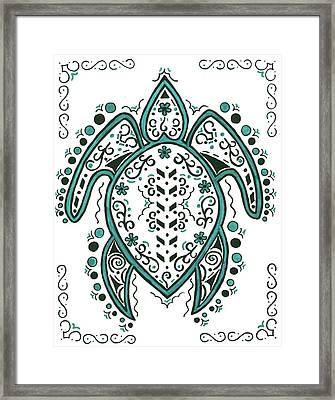 Lacey's Turtle Framed Print