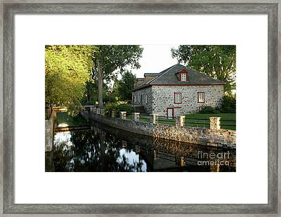 Lachine Canal Montreal Quebec Framed Print by John  Mitchell