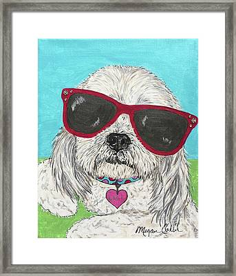 Laci With Shades Framed Print