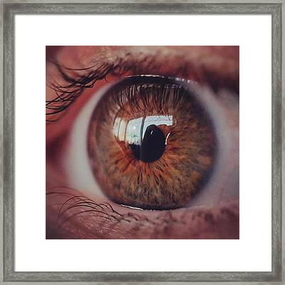 @laciee3 #eye #eyes #macro #micro Framed Print