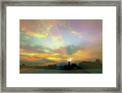 Framed Print featuring the photograph Lackawanna Transit Sunset by Diana Angstadt