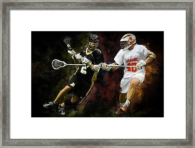 Lacrosse Close D #2 Framed Print