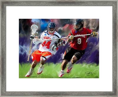 Lacrosse Close D Framed Print