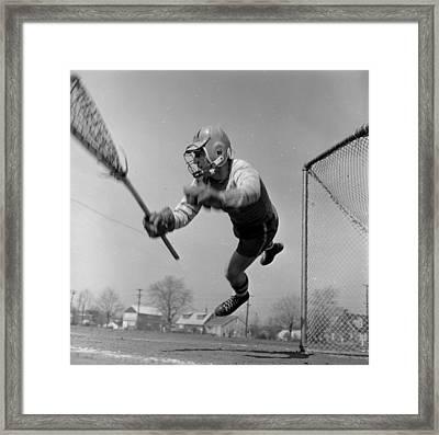 Lacrosse Goalie Framed Print by Orlando