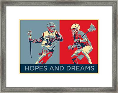 Lacrosse Pop Art Framed Print
