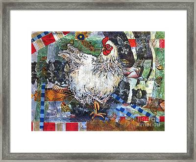 Lacy Chicken Framed Print