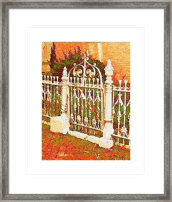 Lacy Garden Gate Framed Print