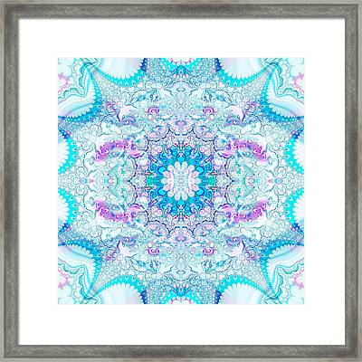 Framed Print featuring the digital art Lacy Mandala by Bee-Bee Deigner