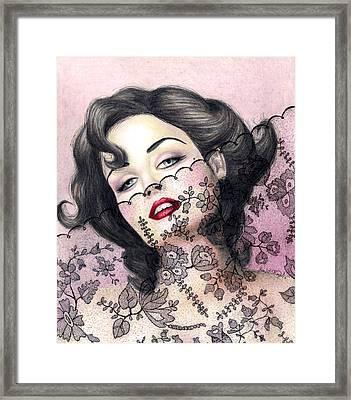 Lacy Seduction Framed Print by Scarlett Royal