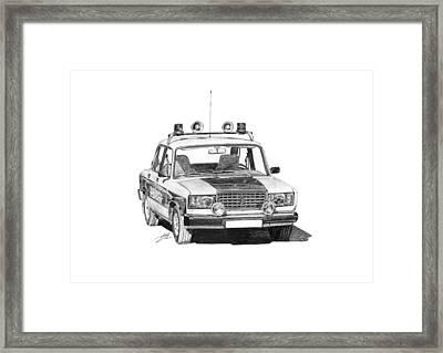 Lada Vaz 2107 Police Car Framed Print by Gabor Vida