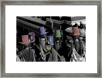 Ladakhi Woman And Their Hats - India Framed Print by Craig Lovell